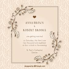 Wedding Ceremony Card Ceremony Vectors Photos And Psd Files Free Download