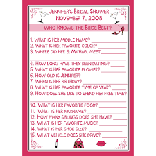 Kitchen Tea Games 24 Bridal Shower Game Cards Who Knows The Bride Best