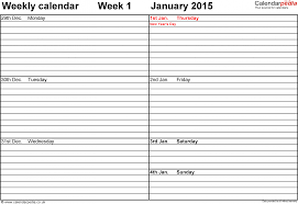 Blank Weekly Schedule Template Happycart Co