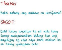 Bakit Mahirap Ma In Love Sa Bestfriend Pinoy Pinterest Best Stunning Quotes Dear Friend Tagalog