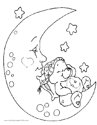 Small Picture Bedtime Bear Care Bear coloring page Care Bear color page