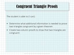 Triangle Proofs 5 3 Congruent Triangle Proofs