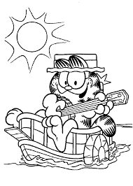 Kids Under 7 Garfield Coloring Pages