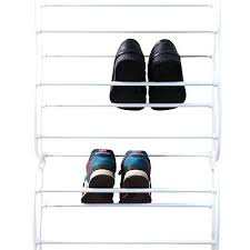 hanging door closet organizer.  Hanging Hanging Closet Shoe Organizer White Rack Wall  Storage Stand Over The Door Closetmaid To G