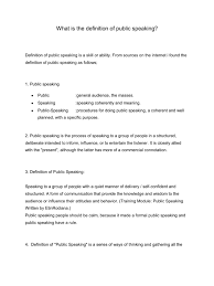 Public Speaking Definition Download What Is The Definition Of Public Speaking Docshare Tips