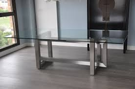 Stainless Steel Table Top Bedroom Extravagant Stainless Steel Table Legs With Rectangle