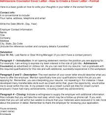 counselor cover letter cover admissions counselor cover letter ...