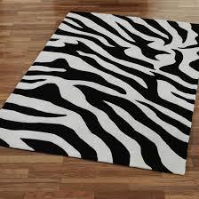 rectangle white black zebra rugs for floor decor idea