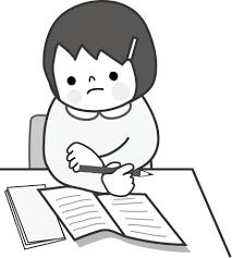 勉強のイラスト女の子無料イラストフリー素材