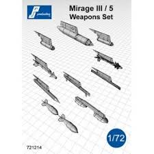 pj productions mirage iii 5 weapons set accessories 1 72 Mirage Wind pj productions mirage iii 5 weapons set accessories 1 72 (pjp721214)