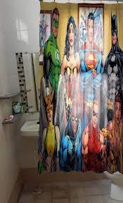 dc comics shower curtain