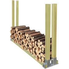 Kaminholzregal Stapelhilfe Holz 2000x340x1250 Mm