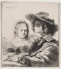 how a rembrandt self portrait made me a curator cmoa blog rembrandt van harmensz rijn self portrait saskia 1636 etching
