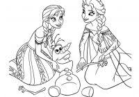 Frozen Coloring Pages Elsa And Anna With Kleurplaten Holiday Fun