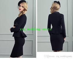 Long black skirt suit