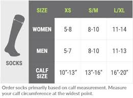 Calf Size Chart Getting The Right Fit Procompression Com
