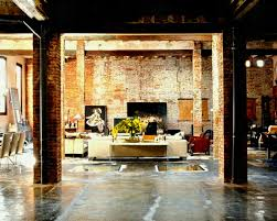 favored vintage style living room decorating design with exposed brick wall also furnishing set as well