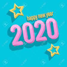3D Happy New Year 2020 Scene Vector ...