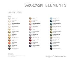 Pearl Color Chart Swarovski Crystal Pearl Color Guide Images