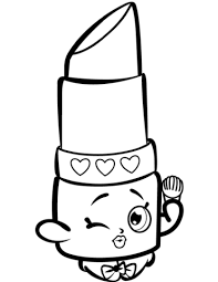 Small Picture Beauty Lippy Lips Shopkin coloring page Free Printable Coloring