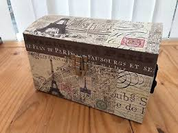 2015 SOPHIA RILEY Storage Storage Box Trunk Paris Print - Tri Coastal  Design - £26.99 | PicClick UK