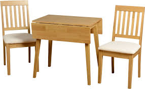 Dining Table With 2 Chairs Small Beech Wooden Dining Table And 2 Chairs Set Small Dining