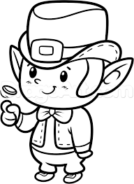 template of a leprechaun how to draw a chibi leprechaun step 9 svg files pinterest