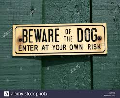Beware Dogs Sign Stock Photos & Beware Dogs Sign Stock Images - Alamy