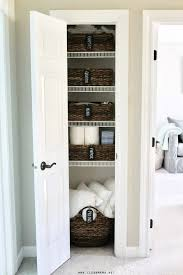 previously i haven t always put everything in a basket in our linen closet but after doing so i love the organization and function this adds to our linen