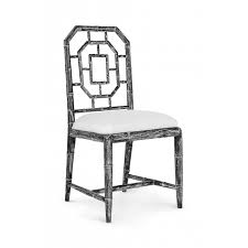black side chair. Bungalow 5 Georgica Side Chair In Black - CALL FOR AVAILABILITY N