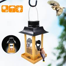 Solar Light Bird Feeder Details About Solar Led Light Hanging Bird Feeder Outdoor Parrot Feeding Home Yard Decor Hl