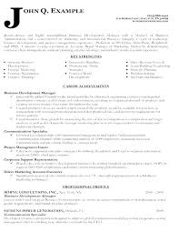 Business Manager Resume Template Resume For Business Manager