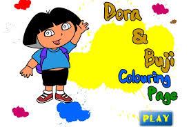 Small Picture Dora The Explorer Buji Coloring Page Game Dora The Explorer