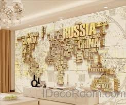 wallpaper for office wall. Abstract World Map Nation 3D Wallpaper Wall Decals Art Print Mural Home Decor Indoor Office For