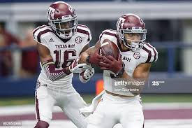 Texas A&M Aggies wide receiver Christian Kirk fields a kick in front...  News Photo - Getty Images