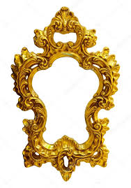 gold ornate oval frame stock photo