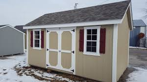10x16 Shutters Shed Kauffman With - Cottage Structures