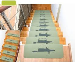 stair treads anti slip stair mats rugs pads runner mute staircase carpet home decor semicirle floor