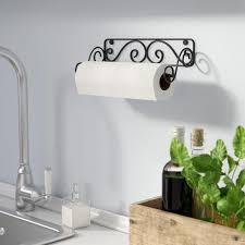 decorative paper towel holder wall