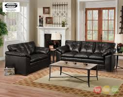 Leather Chairs Living Room Sebring Black Bonded Leather Sofa Amp Loveseat Living Room