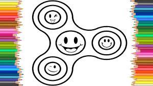 Coloring Page Fidget Spinner Emoji L Videos For Children L Drawing