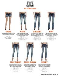 Rock Revival Jeans Size Chart Women S Fit Guide Official Wholesale Site Of Rock Revivalofficial