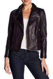 image of ted baker london lizia minimal leather biker jacket