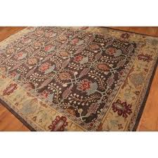 arts crafts handmade wool area rug 8 x rugs 8x10 amp furniture