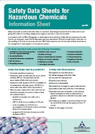 chemical information sheet fire prevention health and safety authority