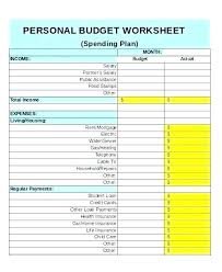 Monthly Personal Budget Spreadsheet Monthly Financial Budget Planning Template Excel Analysis