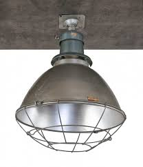 1950 s american chicago public school gymnasium deep bowl pendant light with