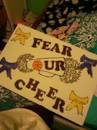 Fear Our Cheer Cheer Poster Ideas Cheer Posters Cheer