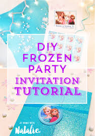 make your own frozen invitations diy frozen party invitation tutorial free printable at home with
