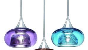 lighting : Wonderful Blue Pendant Light Glass Shade Material Metal ...